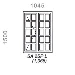 SA2SPL - Small Pane Window 1044x1500mm
