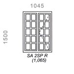 SA2SPR - Small Pane Window 1044x1500mm