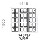 SA3FSP - Small Pane Window 1544x1500mm