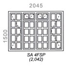 SA4FSP - Small Pane Window 2044x1500mm