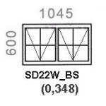 SD22W/BS - Top Hung Window B/Bar 1044x600mm