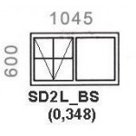 SD2L/BS - Top Hung Window B/Bar 1044x600mm