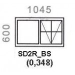SD2R/BS - Top Hung Window B/Bar 1044x600mm
