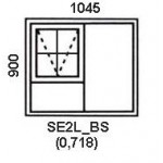 SE2L/BS - Top Hung Window B/Bar 1044x900mm