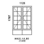 WA22/1.8/BS - Full Pane Window B/Bar 1128x1829mm