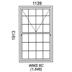 WMS6C - Mock Sash Window Cape Dutch 1141x1905mm