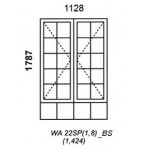 WA22SP/1.8/BS - Small Pane Window B/Bar 1128x1829mm