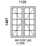 WA22SP/BS - Small Pane Window B/Bar 1128x1487mm