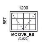 MC12VB/BS - Top Hung Window B/Bar 1200x887mm