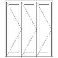 OA3SFD2421 - 3 Panel Sliding Folding Door 2400x2100mm