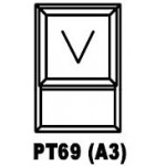 OA38PT69 Top Hung Window 600x900