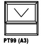 OAPT99 Top Hung Window 900x900mm
