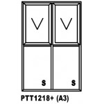 OAPTT1218+ Top Hung Window 1200x1800mm