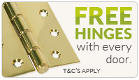 free hinges with your doors