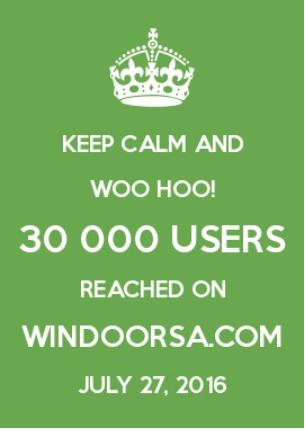 30000 users windoor
