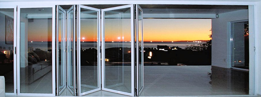 Aluminium Sliding Folding Doors Single Glazed