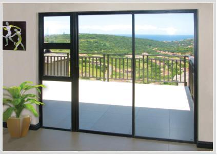aluminium patio sliding door with sidelight